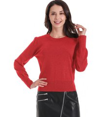 sweater con brillos rojo nicopoly