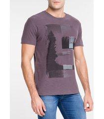 camiseta masculina paisagem bordô calvin klein jeans - pp
