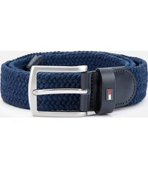 tommy hilfiger men's denton elastic belt - sky captain - 100cm/xl