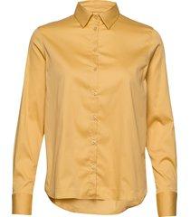 martina sustainable shirt overhemd met lange mouwen geel mos mosh