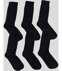 pack de 6 pares calcetines básicos altos negro baziani