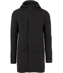 agu regenjas men urban outdoor long parka premium rain jacket black