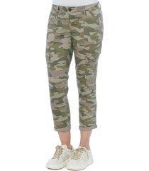 women's wit & wisdom ab-solution high waist crop cargo pants, size 12 - green (nordstrom exclusive)
