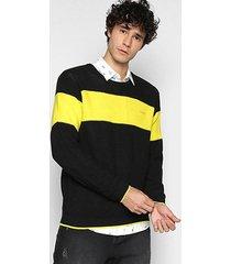 suéter colcci tricô básica bicolor masculina