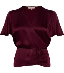 shania ss top blouses short-sleeved rood soft rebels