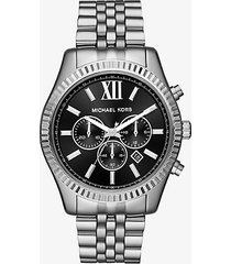 mk orologio lexington oversize tonalità argento - argento (argento) - michael kors