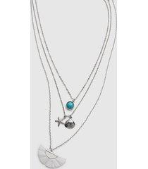 lane bryant women's convertible beachy necklace onesz silvertone