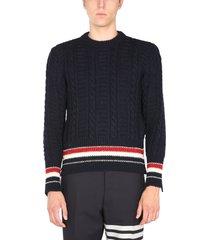 thom browne donegal filey tweed sweater