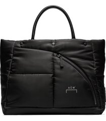 a-cold-wall* logo padded tote - black