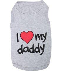 parisian pet i love daddy dog t-shirt