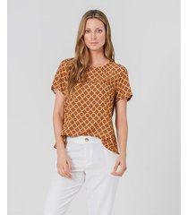 camisa estampada con bolero