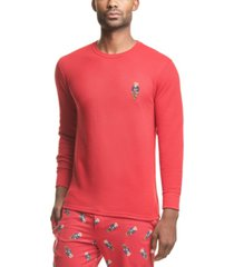 polo ralph lauren men's polo bear waffle-knit pajama shirt