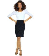 falda pareo con cierre decorativo en espalda negra unipunto 2350