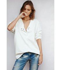 bluza z asymetrycznym zapiciem