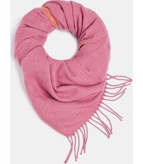 bufanda con flecos rosado esprit