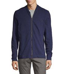 textured cotton bomber jacket