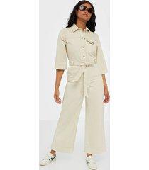 selected femme slfhelena jade white denim jumpsuit jumpsuits