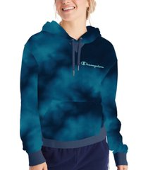 champion women's campus tie-dyed french terry hoodie