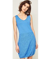 sukienka bez rękawów niebieska