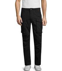 american stitch men's stretch-cotton cargo pants - khaki - size xxl