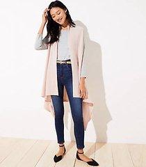 loft drapey rib knit vest