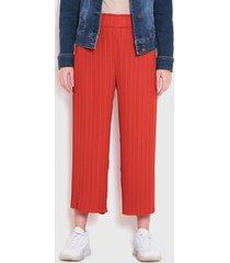 pantalón wados arrugado est rojo - calce holgado