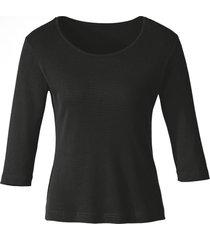 biokatoenen shirt met ronde hals, zwart 40