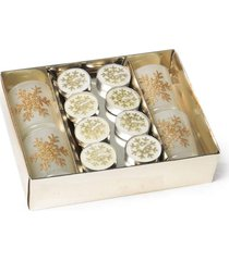 kit vela de natal decoração com porta vela 6 x 4 cm nude