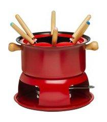 aparelho de fondue lucerna 1,7 litros 11 peças - hauskraft