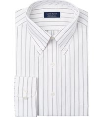 club room men's classic-fit pinstripe dress shirt, created for macy's