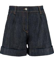 parosh roll-up cuffed denim shorts
