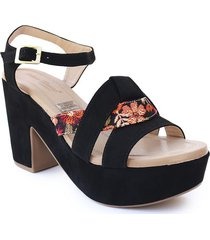 calzado dama tacon 5 1/2 negro 742b05negro
