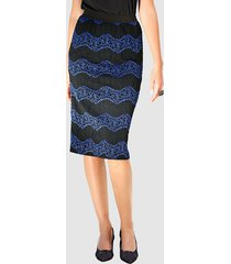 kjol klingel svart::kungsblå