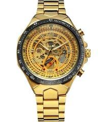 reloj automatico winner 016 skeleton - dorado