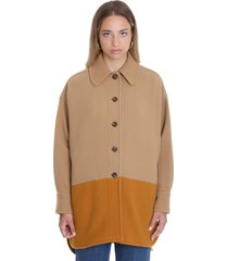 coat in brown wool