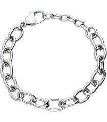 bracciale acciaio catena per donna