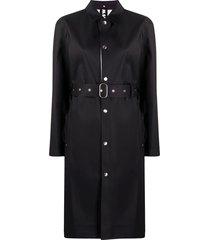 jil sander belted mid-length coat - black