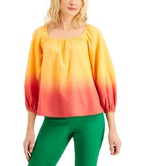 charter club petite square-neck ombre top, created for macy's
