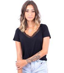 blusa básica tirinhas up side wear preta