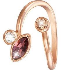 anello in metallo rosato e pietre per donna