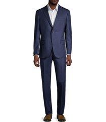 hickey freeman men's millburn regular-fit wool suit - navy - size 40 r