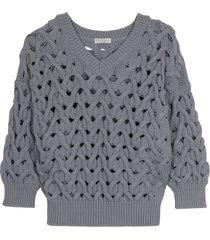 brunello cucinelli cable knit pullover
