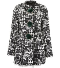 dolce & gabbana tweed blazer with crystals