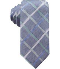 ryan seacrest distinction men's rompaey check slim silk tie, created for macy's