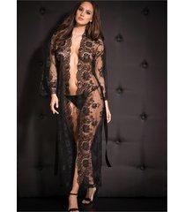 kimono lungo (nero) - venus
