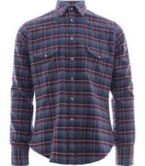 c17 - cedixsept jeans antonie western shirt   blue check   c17wst-13 blu