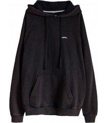bluza just surf hoodie burnt black