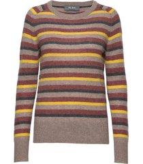 marbel stripe cashmere gebreide trui multi/patroon mos mosh