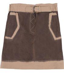 alberta ferretti cotton skirt