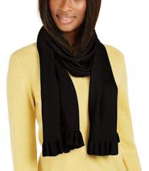 charter club cashmere ruffle muffler scarf, created for macy's